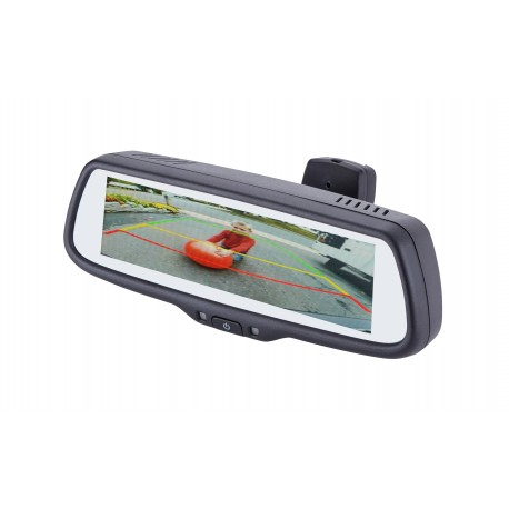"7.3"" Factory Mount Mirror Monitor with 3 Video Inputs, 3 Triggers and Adjustable Parking Lines"