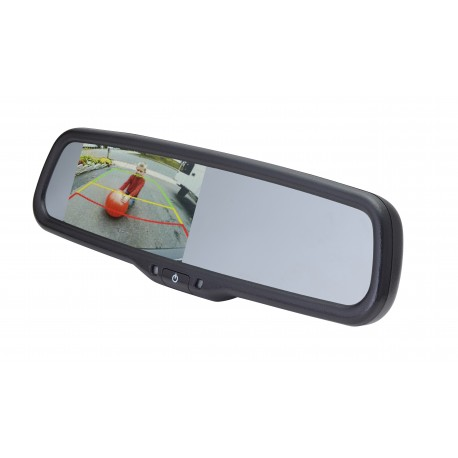 "4.3"" Mirror Monitor for Chrysler, Dodge and Jeep with Auto Dimming and Adjustable Parking Lines"