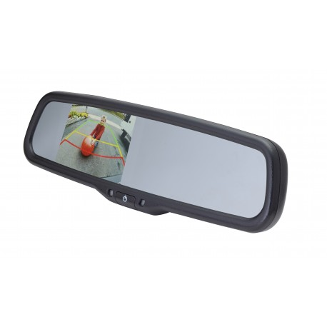 "Under Lip Mount Camera (PCAM-201-N) / 3.5"" Rear Camera Display Mirror (PMM-35-PL)"