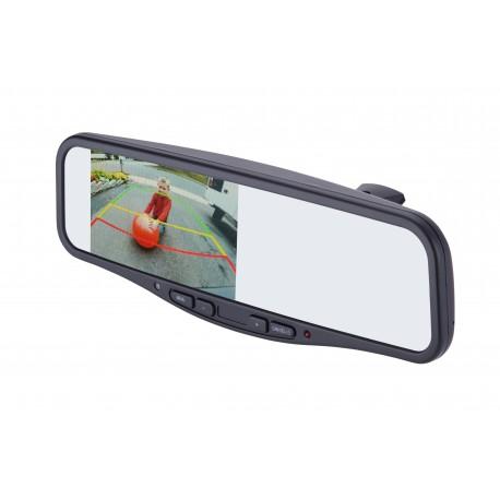 "Under Lip Mount Camera (PCAM-201-N) / 3.5"" Rear Camera Display Mirror (PMM-35-PL)"