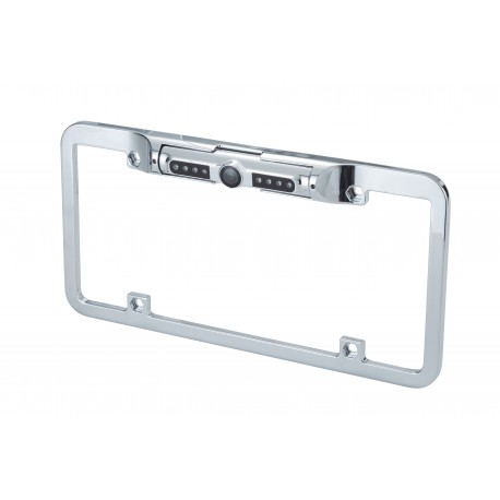 "1/4"" CMOS Full Frame License Plate Camera with Chrome Metal Finish - USA size"