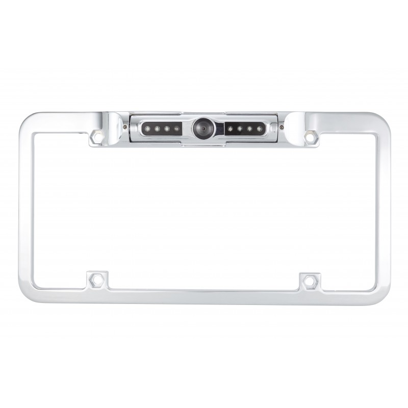 Chrome Finish Full Frame License Plate Camera With Night