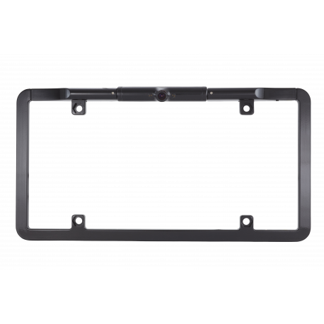 CCD Slim Full Frame License Plate Backup Camera Black