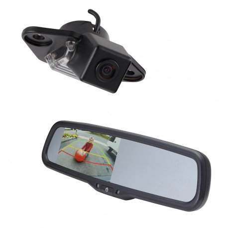 "Ford E-Series OE Custom Fit Camera (PCAM-FE6-N) / 4.3"" Rear Camera Display Mirror (PMM-4322-COM-PL)"