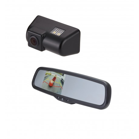 "Ford Transit OE Custom Fit Camera (PCAM-FT1-N) / 3.5"" Rear Camera Display Mirror (PMM-35-PL)"