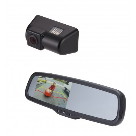 "Ford Transit OE Custom Fit Camera (PCAM-FT1-N) / 4.3"" Rear Camera Display Mirror (PMM-4322-COM-PL)"