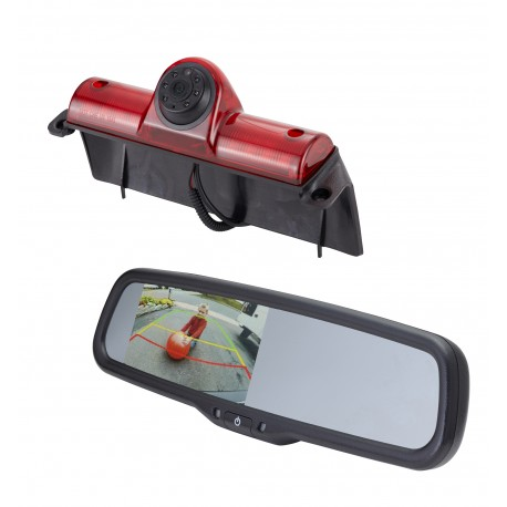 "GM Van Brake Light Camera (PCAM-GM1-N) / 4.3"" Rear Camera Display Mirror (PMM-4322-COM-PL)"