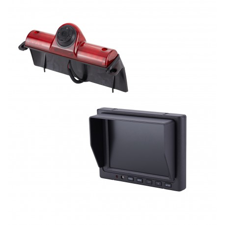 "GM Van Brake Light Camera (PCAM-GM1-N) / 5"" Rear Camera Display Mirror (PMON-50-FM)"