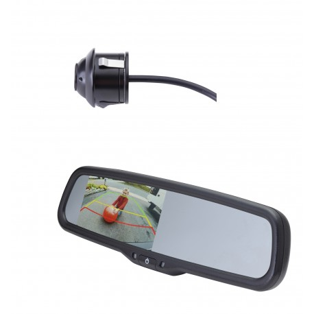 "2015 Promaster City Kit - with camera (PCAM-360-N) / 4.3"" Rear Camera Display Mirror (PMM-43-PMC-PL)"