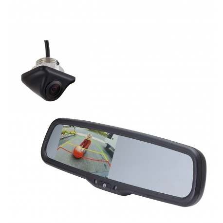 "Ford Transit Kit with Lip Mount Camera (PCAM-110-N) / 4.3"" Rear Camera Display Mirror (PMM-43-FTM-PL)"