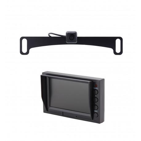 License Plate Backup Camera Windshield Monitor Kit