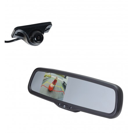 "Under Lip Mount Camera (PCAM-150-N) / 3.5"" Rear Camera Display Mirror (PMM-35-PL)"