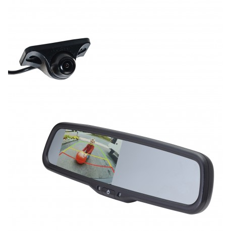 "Under Lip Mount Camera (PCAM-150-N) / 4.3"" Rear Camera Display Mirror (PMM-43-PL)"