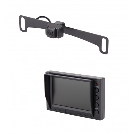 "License Plate Camera (Mounts Behind) (PCAM-10I-N) / 4.3"" Glass Mount Monitor (PMON-43)"