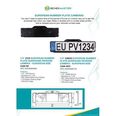 EU Number Plate Cameras One Sheet