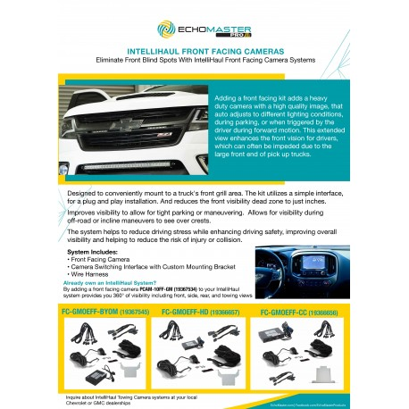 Front Facing Camera IntelliHaul Systems