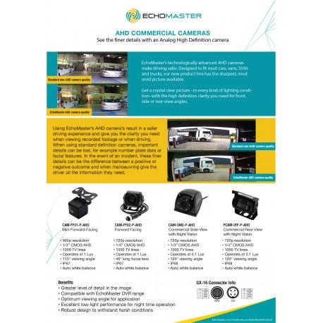 AHD Cameras One Sheet