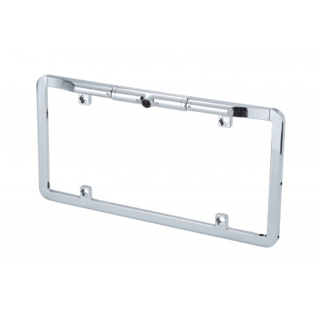 """1/3"""" CMOS Slim Full Frame License Plate Backup Camera with Dynamic Parking Lines Chrome"""