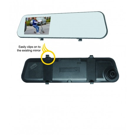 Dash Cam with Mirror Monitor and Back-up Camera