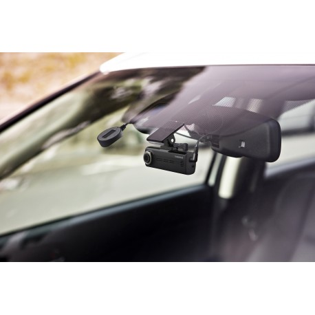 2 Channel Windshield Mount DVR with Interior Rear Facing Camera, 16GB SD, and OBD II T-Harness